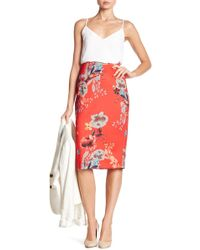 Eci - Floral Patterned Midi Skirt - Lyst