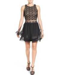 Way-in - Two-piece Lace Skater Dress - Lyst