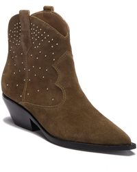 Sigerson Morrison - Tira Suede Studded Ankle Bootie - Lyst