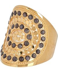 Anna Beck - 18k Gold Plated Grey Sapphire Saddle Ring - Lyst