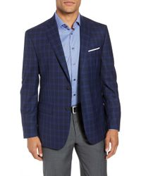 John W. Nordstrom - (r) Traditional Fit Plaid Wool Sport Coat - Lyst