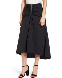 Trouvé - Ruched Front Midi Skirt - Lyst