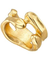 Uno De 50 - Gold-plated Irregular Open Space Ring - Lyst