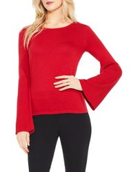 Vince Camuto - Ribbed Bell Sleeve Jumper (petite) - Lyst