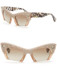 815c50f4d8 Miu Miu - Rasoir Rock Collection 50mm Cat Eye Sunglasses - Lyst
