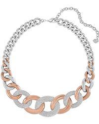 Swarovski - Bound Pave Crystal Chunky Chain Necklace - Lyst