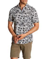 Benson - Mixed Print Short Sleeve Modern Fit Shirt - Lyst