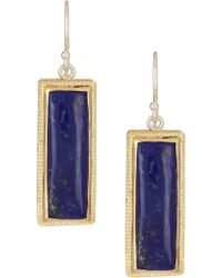 Anna Beck - 18k Gold Plated Sterling Silver Lapis Drop Earrings - Lyst