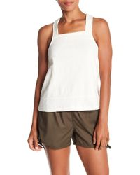 6261b84293f3c6 Lyst - Madewell Modern Linen Muscle Tee in White