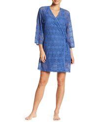 Lyst - Ugg Allinda Fleece Lined Robe in Purple a7b18c3bf