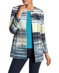 Lafayette 148 New York - Pria Abstract Open Coat - Lyst