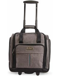 """Original Penguin - Ethan 15"""" Under-the-seat Carry-on Wheeled Luggage - Grey - Lyst"""