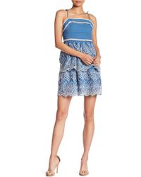 Romeo and Juliet Couture - Tie-shoulder Eyelet Dress - Lyst