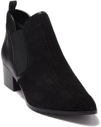 Donald J Pliner Darla 2 Perforated Suede & Leather Ankle Boot - Black