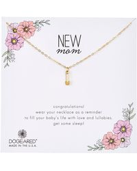Dogeared - New Mom Safety Pin Charm Necklace - Lyst