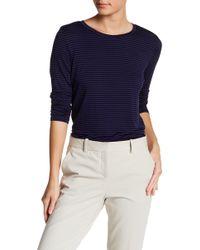 e5a8ec8dfd2 Lyst - Heather by Bordeaux Feminine Crew Neck Short Sleeve Tee in Purple