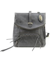 Born - Arched Distressed Leather Backpack - Lyst
