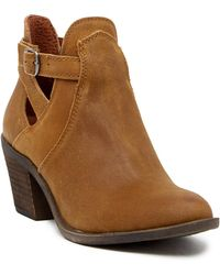 Lucky Brand - Nandita Leather Bootie - Lyst