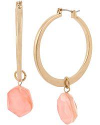 Robert Lee Morris - Faceted Orange Stone Hoop Drop Earrings - Lyst