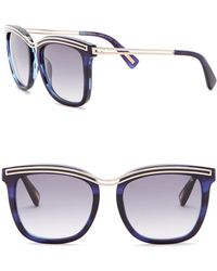 Lanvin - 54mm Modified Square With Metal Detail Sunglasses - Lyst