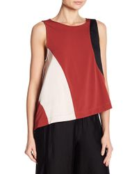 Kenneth Cole - Cold Shoulder Swing Top - Lyst