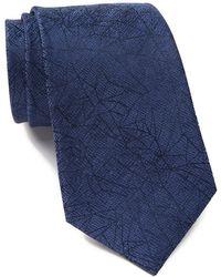 Calvin Klein - Shattered Abstract Silk Tie - Lyst