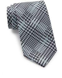 Thomas Pink Girtin Check Silk Tie - Blue