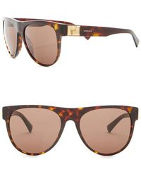 7ee41bbbed Versace Modified Round 57mm Sunglasses in Black for Men - Lyst