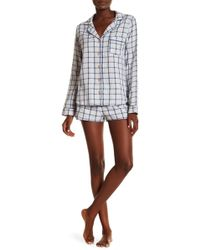 Ugg | Milo Check Short Pj 2-piece Set | Lyst