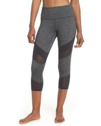 Zella - Live In Electric Mix Power Mesh Crop Leggings - Lyst