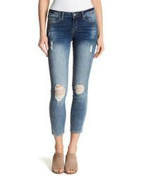 Jessica Simpson - Forever Rolled Ankle Skinny Jeans - Lyst