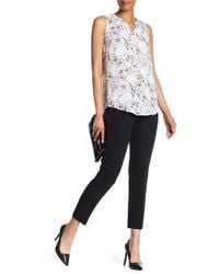 Adrianna Papell - Ruffle Pocket Slim Fit Pants - Lyst