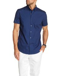 JB Britches - Dotted Short Sleeve Shirt - Lyst