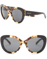 940a783ddc01 Lyst - Burberry Women s Square Sunglasses in Black