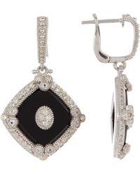 Judith Ripka - Sterling Silver Westport Diagonal Cushion Drop Earrings - Lyst