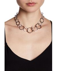 Judith Jack - Sterling Silver Swarovski Marcasite Embellished Circle Collar Necklace - Lyst
