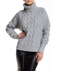 Six Crisp Days - Turtleneck Cable Knit Sweater - Lyst