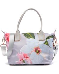 292252ea3047 Lyst - Ted Baker Kaycie Large Citrus Bloom Nylon Tote