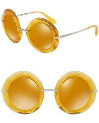 Dolce & Gabbana - 50mm Round Sunglasses - Lyst