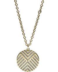 Fossil - Chevron Glitz Necklace - Lyst