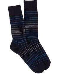 BOSS - Striped Socks - Lyst