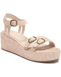 Matisse Bateau Snake Skin Embossed Platform Sandal