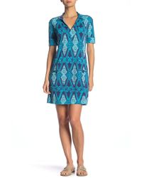 Tori Richard - Jaxon Short Sleeve Print Dress - Lyst