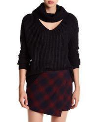 Love By Design - Cowl Gigi Choker Neck Sweater - Lyst