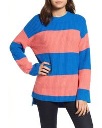 1a56adf7135a Rugby Stripe Sweater (regular   Plus Size) - Lyst