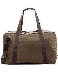 AllSaints | Nakano Cow Leather Trim Holdall Bag | Lyst