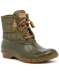 Sperry Top-Sider - Saltwater Waterproof Shiny Quilted Duck Boot - Lyst