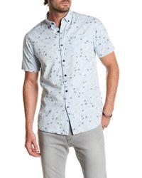 Indigo Star - Arata Short Sleeve Print Tailored Fit Shirt - Lyst