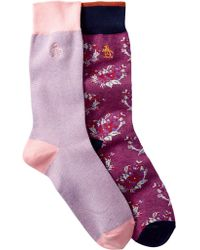 Original Penguin - Assorted Printed Crew Socks - Pack Of 2 - Lyst