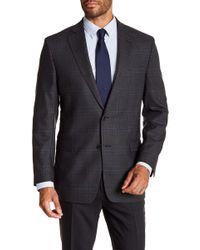 Brooks Brothers - Charcoal Plaid Two Button Notch Lapel Wool Regent Fit Sport Coat - Lyst